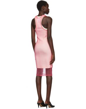 photo Pink Masc Tank Dress by Helmut Lang - Image 3