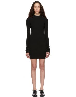 photo Black Open Back Dress by Helmut Lang - Image 1