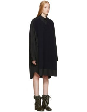 photo Black Cotton Poplin Dress by Maison Margiela - Image 2