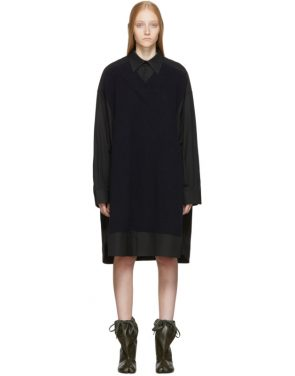 photo Black Cotton Poplin Dress by Maison Margiela - Image 1