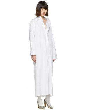 photo White Long Shirt Dress by Maison Margiela - Image 2