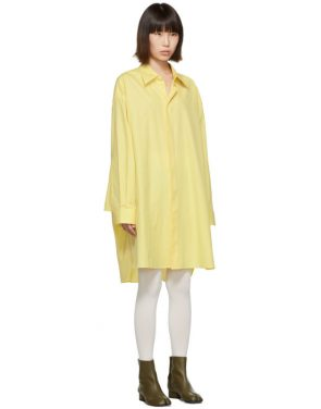 photo Yellow Oversized Shirt Dress by Maison Margiela - Image 2