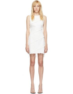 photo White Diagonal Seamed Dress by Alexander Wang - Image 1