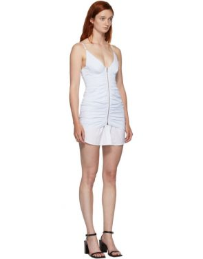 photo White and Blue Ruched Dress by Alexander Wang - Image 2