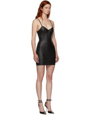 photo Black Leather Stretch Dress by Alexander Wang - Image 2