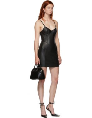 photo Black Leather Stretch Dress by Alexander Wang - Image 5