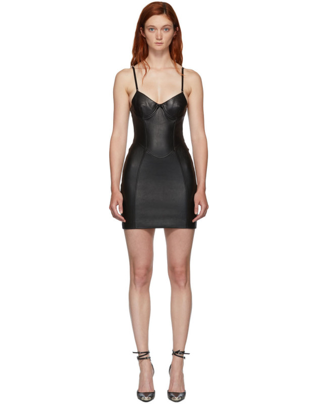 photo Black Leather Stretch Dress by Alexander Wang - Image 1