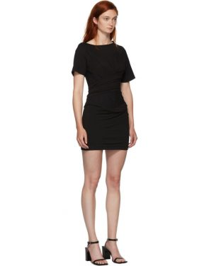 photo Black Draped T-Shirt Bustier Dress by Alexander Wang - Image 2