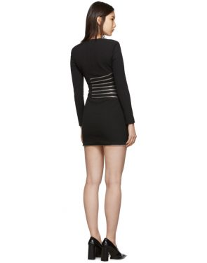photo Black Sunburst Zip Dress by Alexander Wang - Image 3