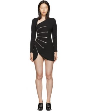 photo Black Sunburst Zip Dress by Alexander Wang - Image 1