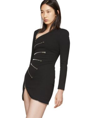 photo Black Sunburst Zip Dress by Alexander Wang - Image 4