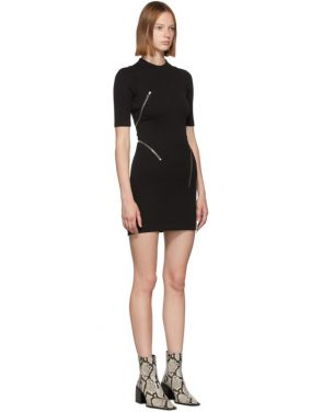 photo Black Travelling Zip Rib Dress by Alexander Wang - Image 2