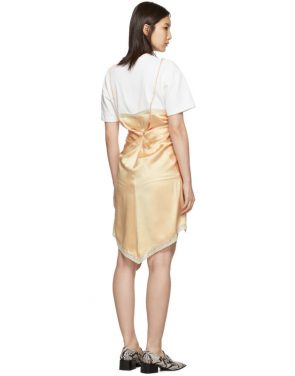 photo Pink Cinched T-Shirt Slip Dress by Alexander Wang - Image 3