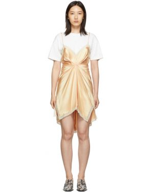 photo Pink Cinched T-Shirt Slip Dress by Alexander Wang - Image 1
