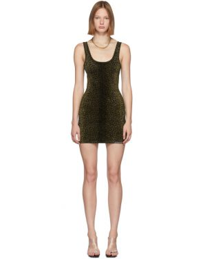 photo Black Animal Print Mini Tank Dress by Alexander Wang - Image 1