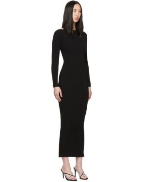 photo Black Moving Rib Splittable Dress by Alexander Wang - Image 2