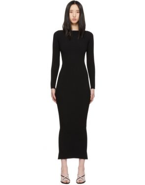 photo Black Moving Rib Splittable Dress by Alexander Wang - Image 1
