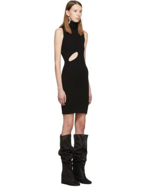 photo Black Slit Turtleneck Dress by MM6 Maison Margiela - Image 2