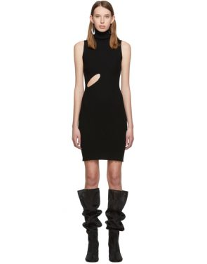 photo Black Slit Turtleneck Dress by MM6 Maison Margiela - Image 1