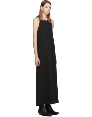 photo Black Convertible Tank Dress by MM6 Maison Margiela - Image 2