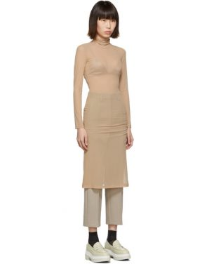 photo Beige Turtleneck Dress by MM6 Maison Margiela - Image 2