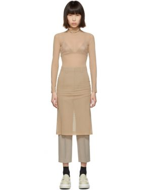 photo Beige Turtleneck Dress by MM6 Maison Margiela - Image 1