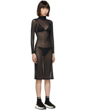 photo Black Turtleneck Dress by MM6 Maison Margiela - Image 2
