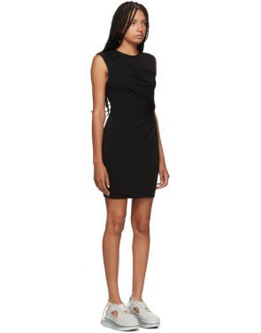 photo Black Crepe Jersey Twisted Minidress by alexanderwang.t - Image 2