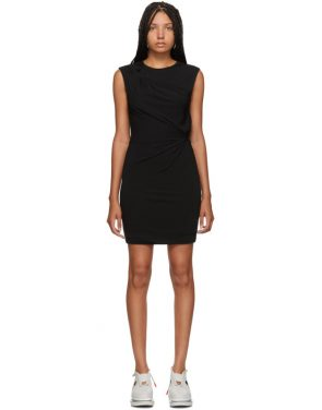 photo Black Crepe Jersey Twisted Minidress by alexanderwang.t - Image 1