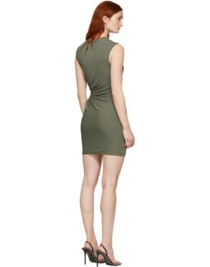 photo Khaki Twisted Minidress by alexanderwang.t - Image 3