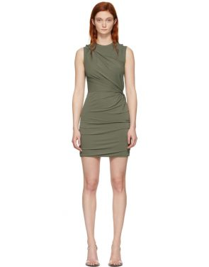 photo Khaki Twisted Minidress by alexanderwang.t - Image 1