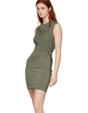 photo Khaki Twisted Minidress by alexanderwang.t - Image 4