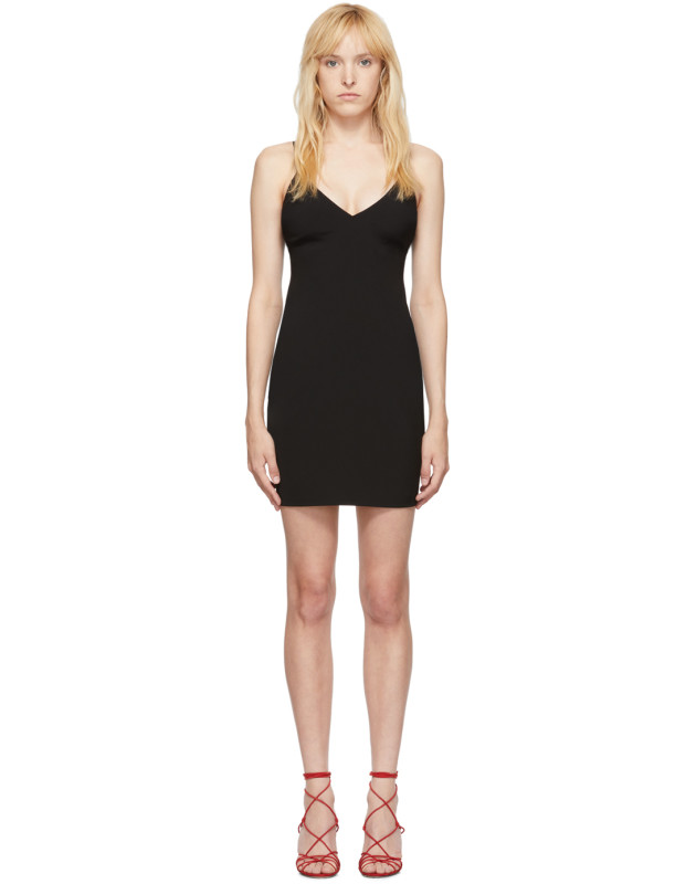 photo Black Wash and Go Mini Dress by alexanderwang.t - Image 1