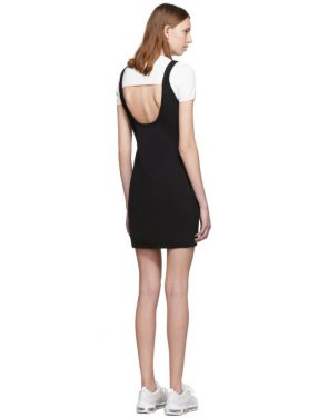 photo White and Black Sport Layering Logo Mini Dress by alexanderwang.t - Image 3