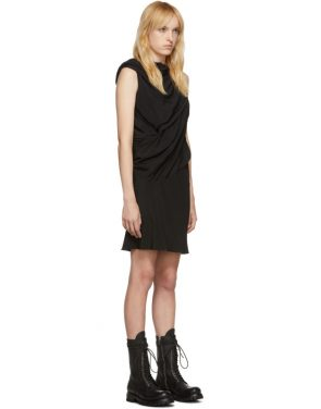photo Black Silk Knot Tunic Dress by Rick Owens - Image 2
