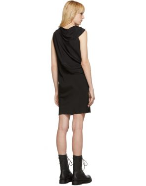 photo Black Silk Knot Tunic Dress by Rick Owens - Image 3
