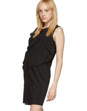 photo Black Silk Knot Tunic Dress by Rick Owens - Image 4