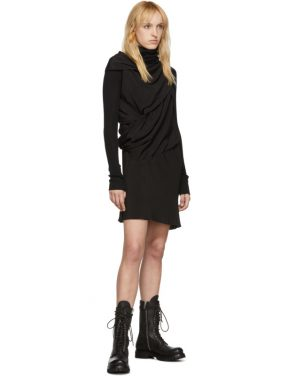 photo Black Silk Knot Tunic Dress by Rick Owens - Image 5