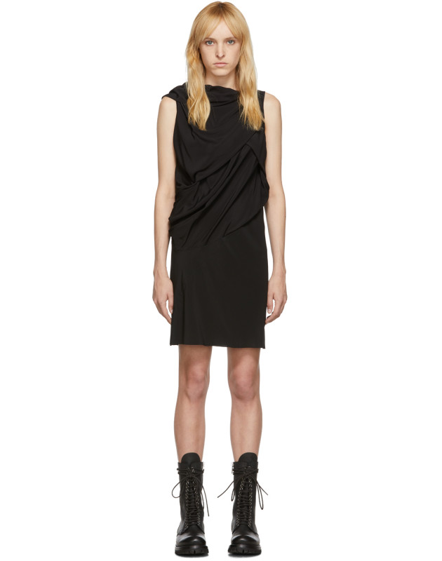 photo Black Silk Knot Tunic Dress by Rick Owens - Image 1