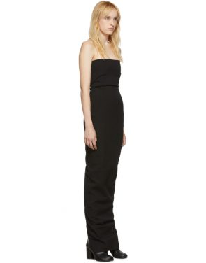 photo Black Bustier Gown Dress by Rick Owens - Image 2
