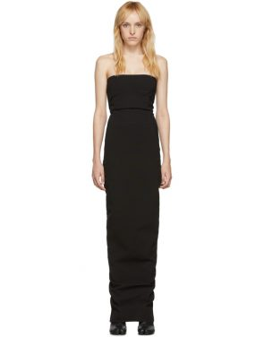 photo Black Bustier Gown Dress by Rick Owens - Image 1