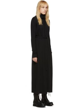 photo Black Bathrobe Dress by Rick Owens - Image 2