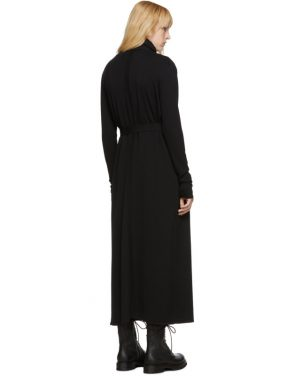 photo Black Bathrobe Dress by Rick Owens - Image 3