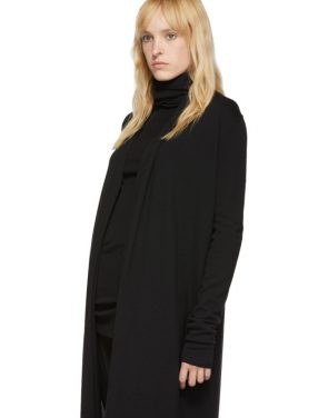 photo Black Bathrobe Dress by Rick Owens - Image 4