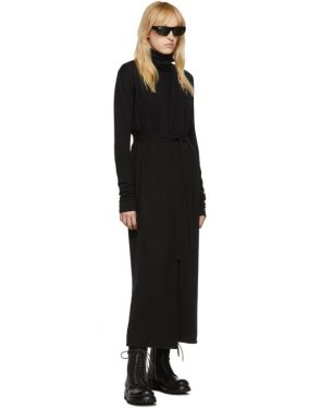 photo Black Bathrobe Dress by Rick Owens - Image 5