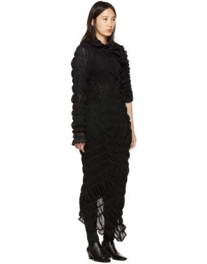 photo Black Mesh Rashel Long Dress by Comme des Garcons - Image 2