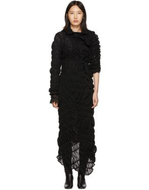 photo Black Mesh Rashel Long Dress by Comme des Garcons - Image 1