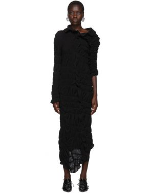 photo Black Lame Jersey Ruched Dress by Comme des Garcons - Image 1