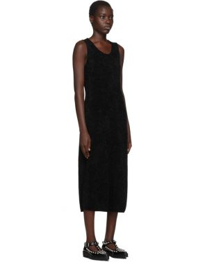 photo Black Chenille Jersey Dress by Comme des Garcons - Image 2