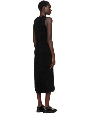 photo Black Chenille Jersey Dress by Comme des Garcons - Image 3